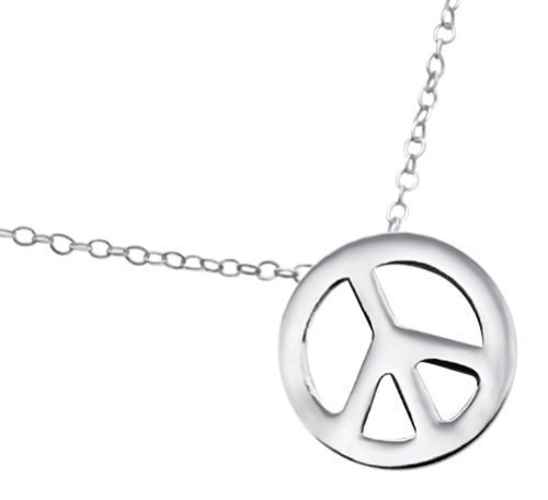 Laimons Collier pour femme peace and love brillant argent sterling 925