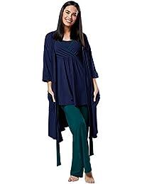 e58c4f076 HAPPY MAMA Mujer Maternidad Conjunto Pijama Pantalones Cima Bata 558p