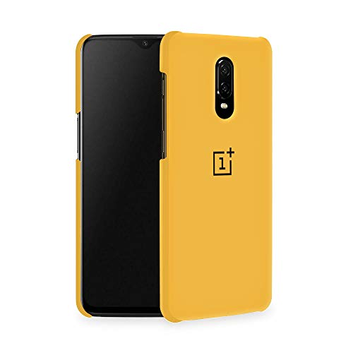 Qrioh Printed Designer Matte Hard Case Back Cover for OnePlus 6T - Yellow