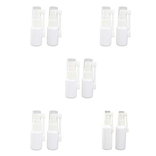 Set 10pcs 50ml/30ml/20ml/15ml/10ml Flacon de Brouillard de Pulvérisation Vaporisateur Nasal Vide Plastique Blanc