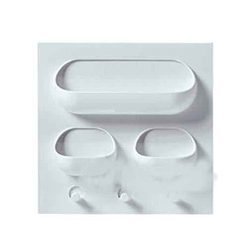 Aiming Kunststoffkleber Wandbehang Rack-Durchschlags-Free Sticky-Speicher-Organisator für Badezimmer Küche 3 Löcher