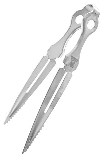 KAYA Shisha Kohlezange Dagger im Dolch Design [23cm groß] Absolut robust, rostfrei & hitze-isolierend - Shisha Zange aus Edelstahl als Kohlezange, Tabakzange & BBQ Grillzange