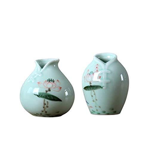 GR-BT Kreatives Günstiges Heimhandwerk Kleine Vase handgemachte Keramik getrocknete Blumen Wohnzimmer Blumenschmuck Ornamente handgemachte Blume Orgel (Günstige Keramik-vasen)