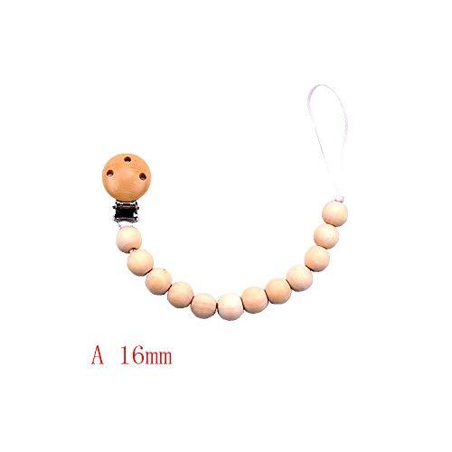 H.eternal Baby Schnuller Clips Klemmen Beißring Kette Halter Kautabletten Perlen Kinderkrankheiten Spielzeug Kinderkrankheiten Relief Schmerzen Dusche Geschenk für 0-3Jahre (A) -
