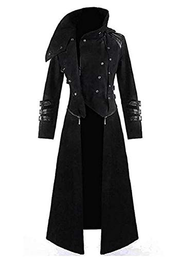 Shujin Herren Vintage Frack Steampunk Gothic Jacke