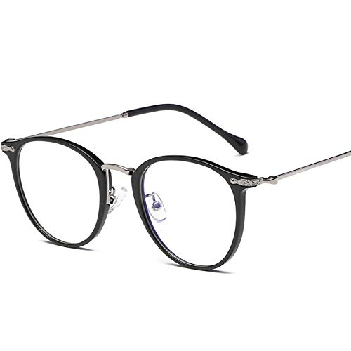 Round Retro Flat Mirror Student Glasses Myopia Glasses Frame Men And Women With The Same Anti-blue Glasses Frame D