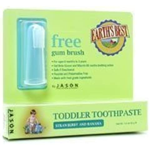 Earth's Best naturale dentifricio alla fragola per bambini e Banana 1,6 g con gum-by Jason Natural Cosmetics