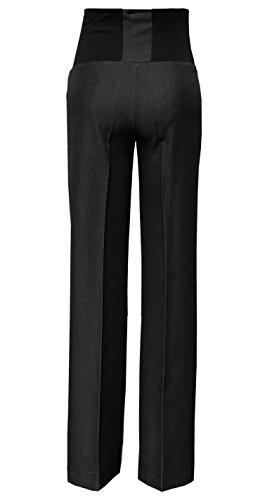 Mija - Pantalon de maternité classique et élégant, formels intelligent, sur mesure Over Bump 1011A Anthracite Noir