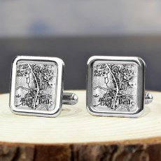 Personalised 1805 - 1874 Old Series Map Cufflinks - A Great Gift For Birthdays - With Free