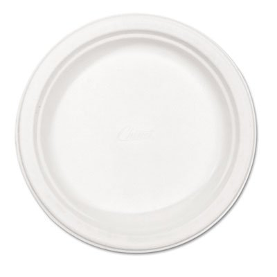 Fiber Tableware, Premium Molded, 8-3/4 quot; Plate, 125/PK, White by Chinet