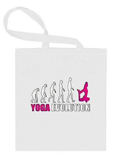 YOGA EVOLUTION 546 Stoffbeutel (Weiss-Pink)