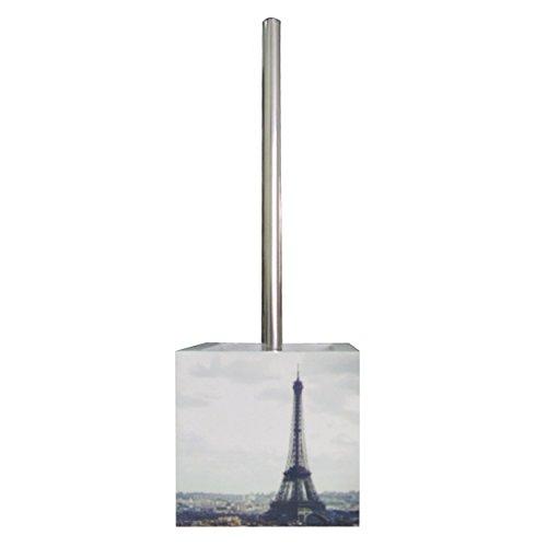 MSV 140574 Toilettenpapierrollenhalter, MDF/Edelstahl, Motiv Paris, 13x15x11,5cm - Paris Wc-bürste