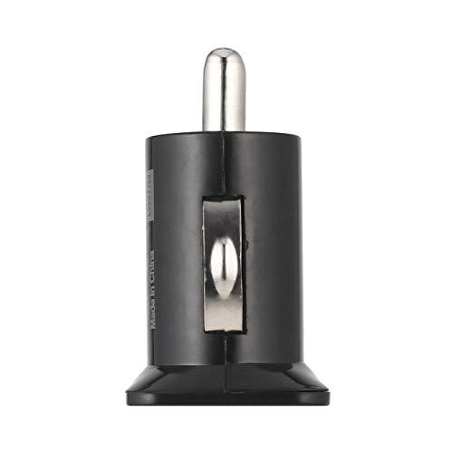 Jiobapiongxin Adattatore Caricatore per Auto Mini USB Universale a 2 Porte Mini Tasca Caricatore Proiettile 5V 2.1A + 1A caricabatteria da Auto per telefoni cellulari Tablet PC (Nero) JBP-X