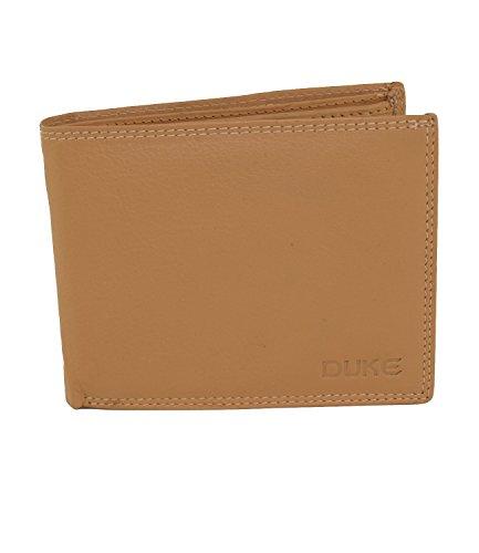 Herren Portemonnaie aus weichem echtem Leder im Querformat robuste Geldbörse Ledergeldbörse Geldbeutel Beige GB09 (Beige - Querformat)