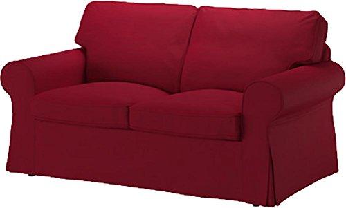 Slipcover Replacement La Sostituzione di Copertura Bed Ektorp Divano a Due posti è su Misura per Ikea Ektorp 2 posti Sleeper Solo, Una Sostituzione di qualità Fodera Divano Vino Rosso del Cotone