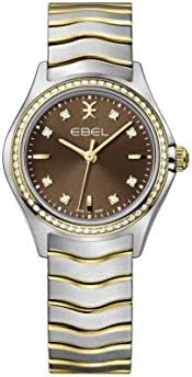 EBEL Ladies 1216482 Wave 18K Gold & Steel Swiss Quartz W
