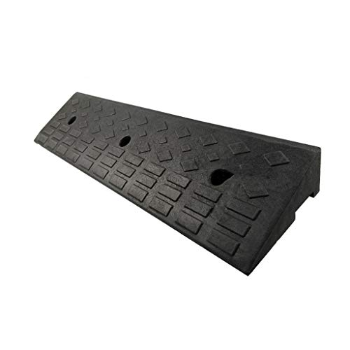 4 cm multifunktionale Trittmatte, Caravan Schwelle Pad Behindertenstuhl Hunderampen Pad Heavy Duty Gummi Parkmatte (Color : Black, Size : 100 * 25 * 10CM)