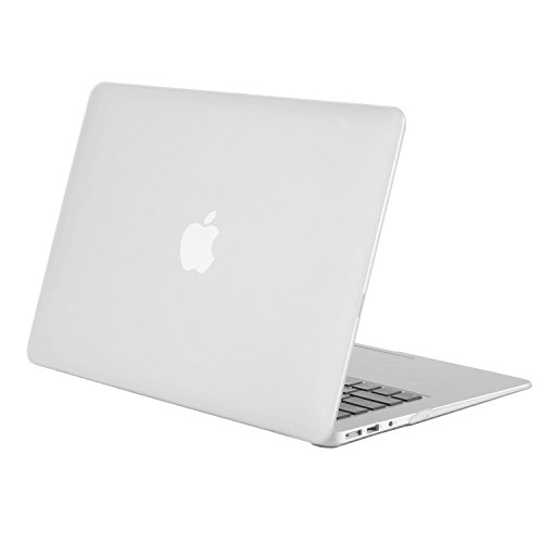 Funda MacBook Air 13,TECOOL® Ultra Slim Cubierta de Plástico Duro Case Cascara para MacBook Air 13' modelo: A1466 y A1369(Clara)