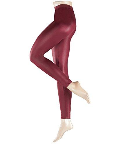 ESPRIT Damen Leggings Wet Look, Rot (Merlot 8005), 40