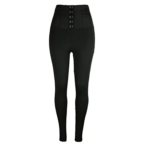 JHKJ Pantaloni Aderenti da Donna a Vita Alta Leggings Slim, snellenti, Leggings Modellanti
