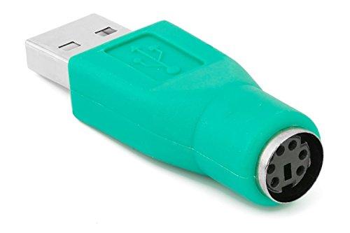 Yuchen PS/2hembra a USB macho adaptador convertidor para teclado ratón ratón