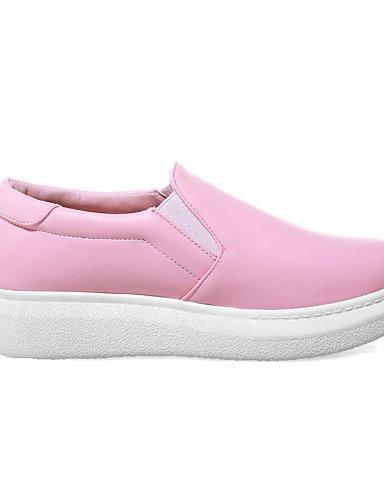 ZQ gyht Scarpe Donna-Mocassini-Tempo libero / Formale / Casual-Plateau / Creepers / Punta arrotondata-Plateau-Finta pelle-Rosa / Bianco , pink-us10.5 / eu42 / uk8.5 / cn43 , pink-us10.5 / eu42 / uk8.5 white-us9.5-10 / eu41 / uk7.5-8 / cn42
