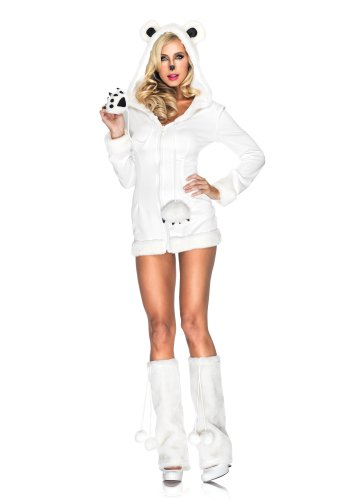 Leg Avenue 83911 - Schneeweiß Eisbär Kostüm, Größe S/M, - Adult Kostüm Eis