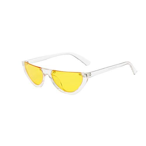 Junecat Frauen Halb Rahmen Sonnenbrillen Weibliche UV400 Schutz Brillen Laufen Outdoor Sports Sun-Gläser