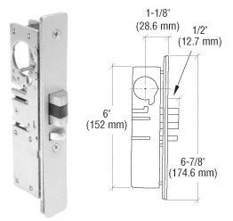 Deadlatch Lock (C.R. LAURENCE DL2140BRH CRL 1-1/8 Backset Narrow Stile Right Hand Deadlatch Lock by CRL)