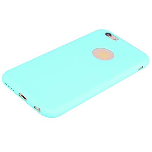 3 x Coque iPhone 6 , Etui iPhone 6S Doux TPU Silicone Slim Housse Cover Couleur des Bonbons Bumper Case Souple Flexible Antichoc Pour Apple iPhone 6 / 6S (4.7 pouces) Arrière Cas Ultra Mince Anti-Rayu Rose + Noir + Bleu