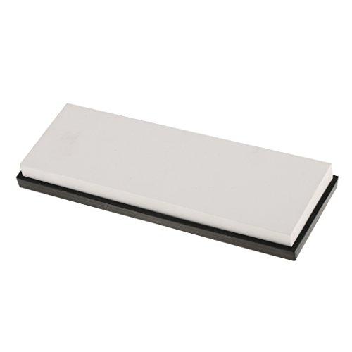 Sharplace Wetzstein Körnung 10000 Schleifstein mit Rutschfestem Halter Größe: 17,9 x 5,8 cm