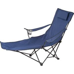 Be Active Folding Lounge Chair With Integral Footrest
