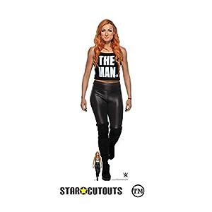 Star Cutouts Ltd-Star Cutouts SC1520 WWE Becky Lynch The Man Lifesize-Figura de cartón (altura de 169 cm x 53 cm)