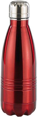Rosenstein & Söhne Edelstahl Trinkflasche: Doppelwandige Mini-Vakuum-Isolierflasche aus Edelstahl, 0,35 Liter (Isolier-Flasche)