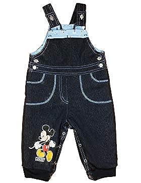 Thermojeans Mickey Mouse Baby Jeans Latzhose gefüttert Jungen dick Baumwolle in Grösse 74 80 86 92 98 104 Geschenk...