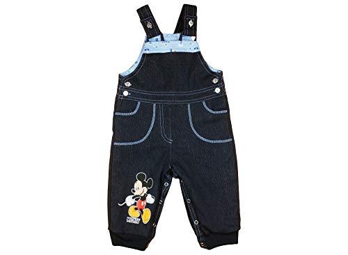 Thermojeans Mickey Mouse Baby Jeans Latzhose gefüttert Jungen dick Baumwolle in Grösse 74 80 86 92 98 104 Geschenk für 9 Monaten 1 2 3 4 Jahre, Dicke Baby Hose für Winter Größe 74