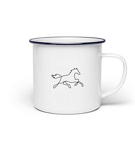 Chorchester Pferd Zeichnung für Tier-Fans - Emaille Tasse -Einheitsgröße-Weiß -