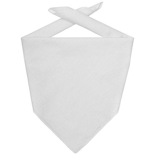 Bandana Tuch Bandanas Kopftücher (One Size - weiß)