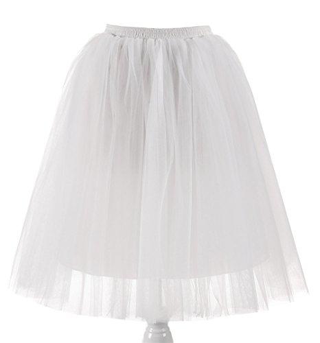 t Knielang Spout Petticoat kleid 50er jahre unterröcke kurz damen halloween kostüm damen (pd-6655-#47) (Phoenix Kostüm Kind)