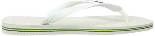Havaianas Brasil Logo, Infradito Unisex – Adulto Bianco (White 0001)
