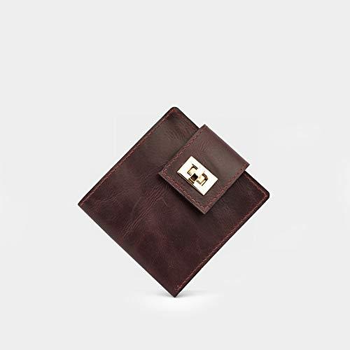Frauen Geldbörse aus Leder, kleines Portemonnaie
