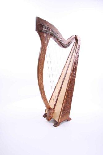Irisch Keltische Harfe 36 Saiten mit Halbtonklappen NEU Incl Lehrbuch