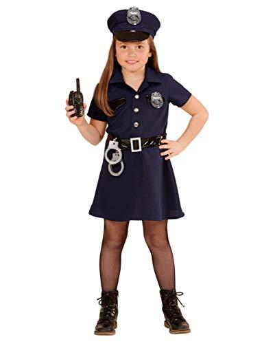 Horror-Shop Polizei Mädchen Kostüm für Fasching und Kindergeburtstag -