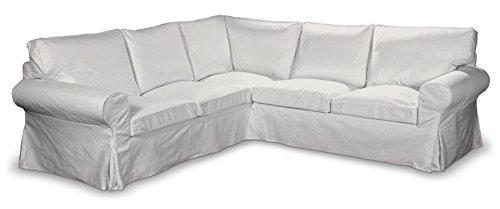 Franc-textil, fodera per divano ad angolo ektorp 640-705-01, colore: bianco naturale