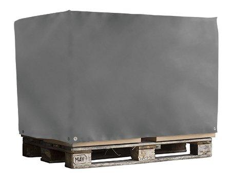 Abdeckhaube für Euro Paletten | Palettenhaube | Schutzhaube aus LKW - Plane | PVC - beschichtetes Polyestergewebe | ohne Reißverschluss | hervorragend für Industriezwecke geeignet | 125x85x85cm | Versandkostenfrei