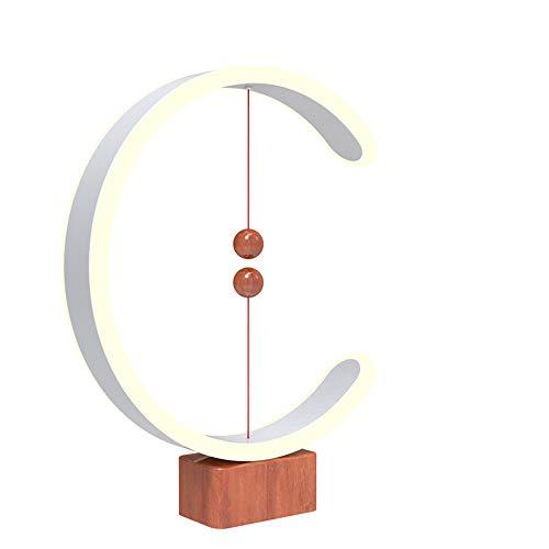 Bureau Hang Tl Lamp.Creative Simple Heng Balance Lamp Magnetique Led Forme De C Lampe Design Moderne Decoration Chambre Salon Bureau Bar Support En Bois Lampe De