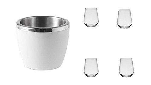 Weinglas ohne Stiel 4er Set klar 450ml von James Premium + Weinkühler