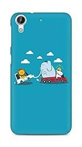 Amez designer printed 3d premium high quality back case cover for HTC Desire 626 G Plus (Funny Cartoon)