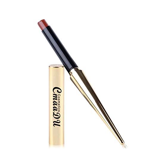 Pingtr Rouge à lèvres imperméable mat couleur rouge riche en humidité vitamine E