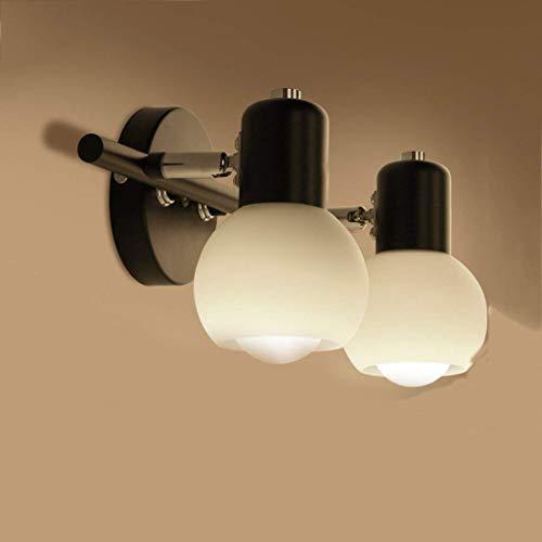 STERA 2-Lichter Wandleuchten, Industriebeleuchtung Metall Lampenschirm Indoor Nordic Vanity Mirror Fixtures (Single Eisen Lamp-Base mit Modern Black lackiert) -